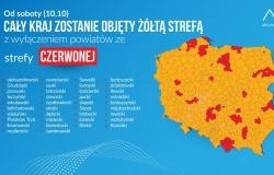 Od 10 października cała Polska będzie w żółtej strefie