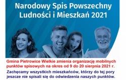 Mobilne punkty spisowe nadal będą dostępne dla Mieszkańców Gminy Pietrowice Wielkie