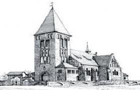 Pawłów szkic Kościoła