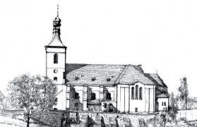 Pietrowice Wielkie szkic Kościoła