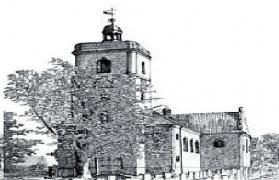 Samborowice szkic kościoła
